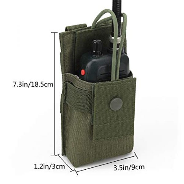 Aoutacc Tactical Pouch 2 Aoutacc Tactical Molle Short Radio Pouch, Nylon Molle Tactical Radio Holster Holder Case for BaoFeng UV-5R UV82 Motorola XTS2500 XTS5000