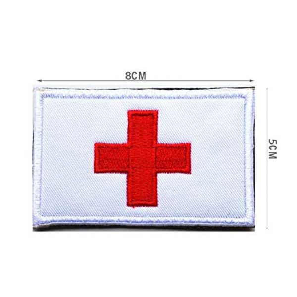 Tactical Embroidery Patch Airsoft Morale Patch 2 2pcs Switzerland Flag Embroidery Patch Military Tactical Morale Patch Badges Emblem Applique Hook Patches for Clothes Backpack Accessories