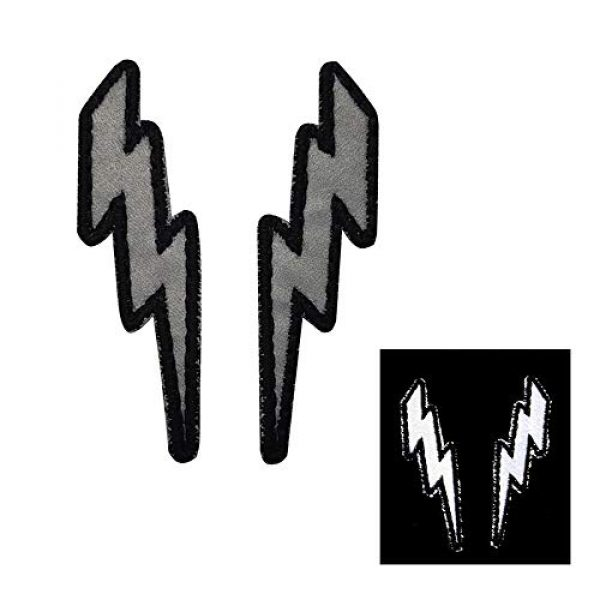 APBVIHL Airsoft Morale Patch 7 IR Infrared Reflective Lightning Bolt Patch Set, Military Tactical Morale Emblem Hook and Loop Fastener Backing Motorcycle MC Patches Armband Badges for Clothing Accessory Backpack