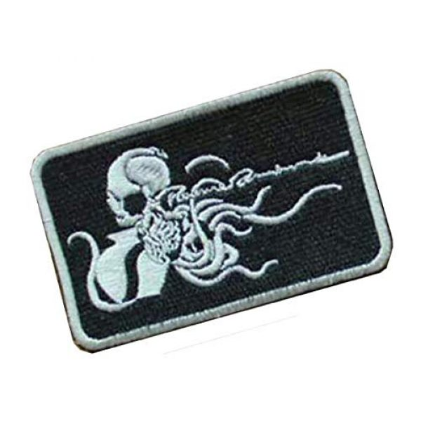 Embroidery Patch Airsoft Morale Patch 2 Metal Gear Solid Octopus Military Hook Loop Tactics Morale Embroidered Patch