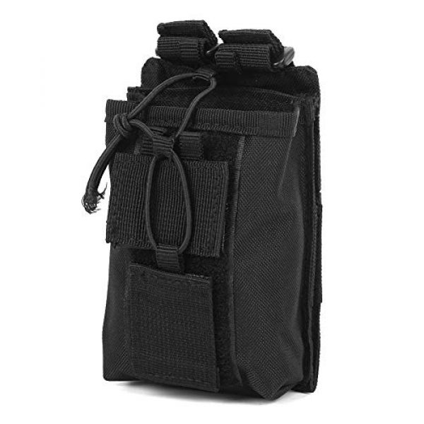 Rosvola Tactical Pouch 3 Rosvola Waterproof Walkie-Talkie Holder, with Snap Buckles Intercom Bag, Walkie-Talkie Bag, Wear-Resistant and Durable Simple Design and Color Black for Security Office