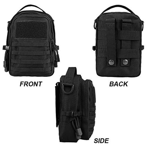 AMYIPO Tactical Pouch 6 AMYIPO Mini MOLLE Pouch Multi-Purpose Compact Tactical Small Waist Bags Utility Pouch Storage Pocket