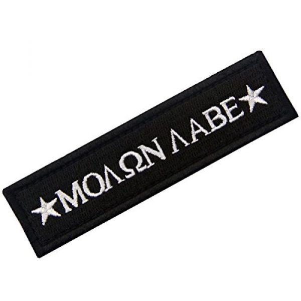 EmbTao Airsoft Morale Patch 3 Tactical Molon Labe Spartan Morale Fastener Hook & Loop Patch - Black