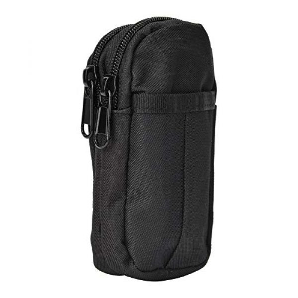 Shanbor Tactical Pouch 4 Shanbor Long Time Use Wear-Resistant Outdoor Accessory Bag, Convenient to Use 800D High Density Nylon Outdoor Bag, for(Black)