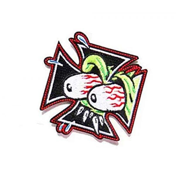 Embroidery Patch Airsoft Morale Patch 3 The Rat Fink Ed Roth Military Hook Loop Tactics Morale Embroidered Patch