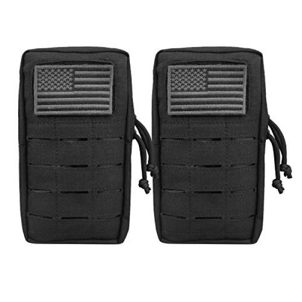 """AMYIPO Tactical Pouch 1 AMYIPO Molle Pouches 8""""x4.5"""" Multi-Purpose Tactical Compact Bags EDC Pouch"""
