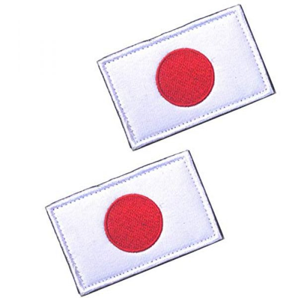 Tactical Embroidery Patch Airsoft Morale Patch 1 2pcs Japan Flag Embroidery Patch Military Tactical Morale Patch Badges Emblem Applique Hook Patches for Clothes Backpack Accessories