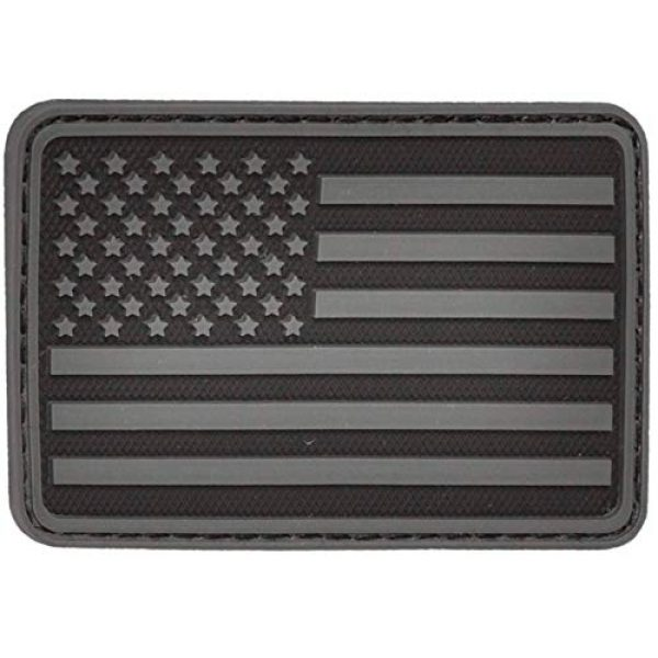 Falko Tactical Airsoft Morale Patch 1 American Flag Patch | Black American Flag Velcro Patch | Rubber PVC Patch | Patches for Jackets, Morale Patches, Backpack Patches, Tactical Patches, Hat Patches, Military Patches, Police Patches