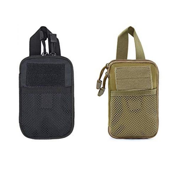 A0ZBZ Tactical Pouch 6 A0ZBZ Tactical Pouch Bag, Portable First Aid Pouch, Tactical Nylon Pouch Belt Bag for Outdoor Hiking Camping Trekking Hunting