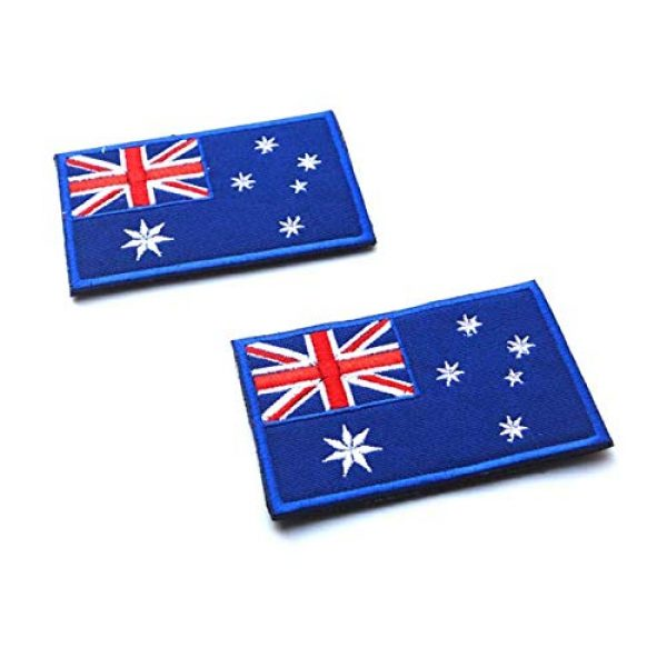 Tactical Embroidery Patch Airsoft Morale Patch 1 2pcs Australia Flag Embroidery Patch Military Tactical Morale Patch Badges Emblem Applique Hook Patches for Clothes Backpack Accessories