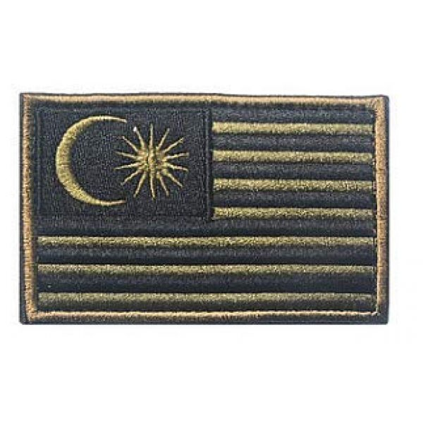 Embroidery Patch Airsoft Morale Patch 1 Malaysia Flag Patch Military Hook Loop Tactics Morale Embroidered Patch (color2)