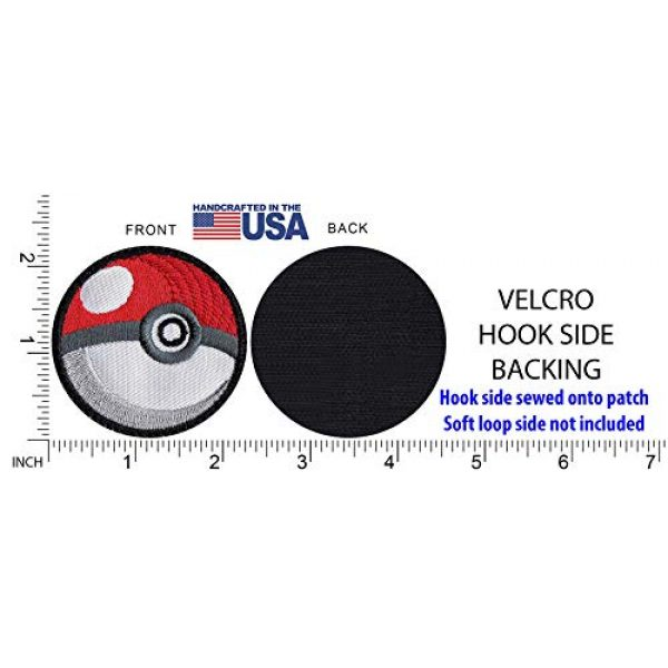 Tactical Patch Works Airsoft Morale Patch 5 Pokeman Poke Ball Ash Pikachu Inspired Art White Patch