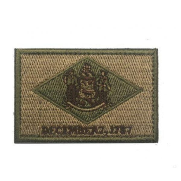 Tactical Embroidery Patch Airsoft Morale Patch 1 State Flag of Delaware Embroidery Patch Military Tactical Morale Patch Badges Emblem Applique Hook Patches for Clothes Backpack Accessories