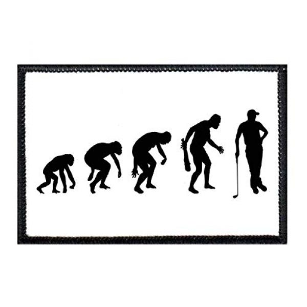 P PULLPATCH Airsoft Morale Patch 1 Golf - Evolution Morale Patch | Hook and Loop Attach for Hats, Jeans, Vest, Coat | 2x3 in | by Pull Patch