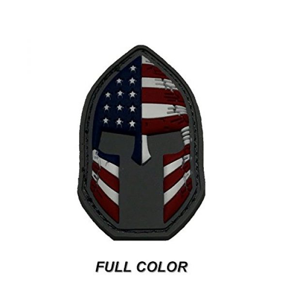Active Duty Gear Airsoft Morale Patch 2 Spartan Helmet (Molon Labe) 3D PVC Rubber USA Flag Morale Patch, Represent American Pride, Perfect for Tactical Operator Caps, Hats, Jackets, Bags, Packs and Military Apparel (Full Color)