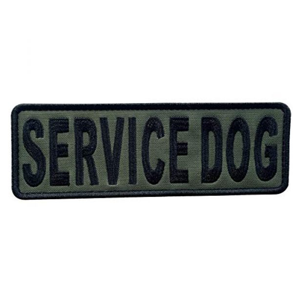 """uuKen Airsoft Morale Patch 1 uuKen Embroidery Fabric Cloth K9 Large Service Dog Embroidered Military Tactical Patch 6x2 inches with Hook Fastener Back for Tactical Vest or Harness K9 Collar (OD Green and Black, 6""""x2"""")"""