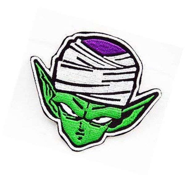 Embroidery Patch Airsoft Morale Patch 3 Dragon Ball Z Dragon Ball Piccolo Military Hook Loop Tactics Morale Embroidered Patch