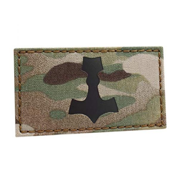Tactical Freaky Airsoft Morale Patch 1 IR Mjolnir Multicam OCP 2x3.5 Thor Hammer Viking Norse Heathen Odin Morale Tactical Touch Fastener Patch