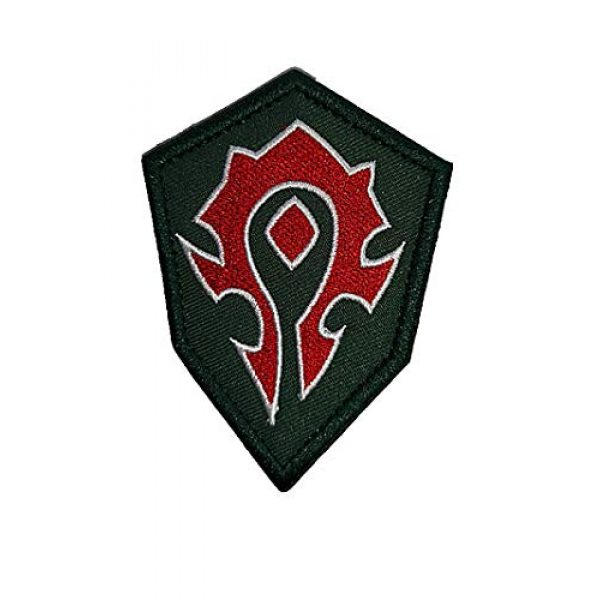 Embroidery Patch Airsoft Morale Patch 1 World of Warcraft Horde Military Hook Loop Tactics Morale Embroidered Patch (color2)