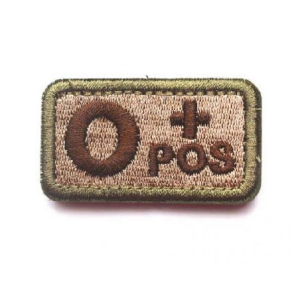 Embroidered Patch Airsoft Morale Patch 1 2pc O+ Positive POS Tactical Patch Military Embroidered Morale Tags Badge Embroidered Logo Patch DIY Applique Shoulder Patch Embroidery Gift Patch (O+)