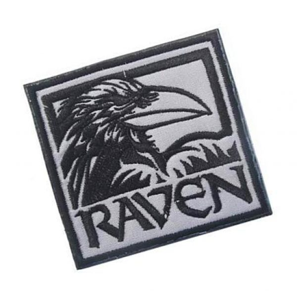Embroidery Patch Airsoft Morale Patch 2 Raven Military Hook Loop Tactics Morale Embroidered Patch (color2)