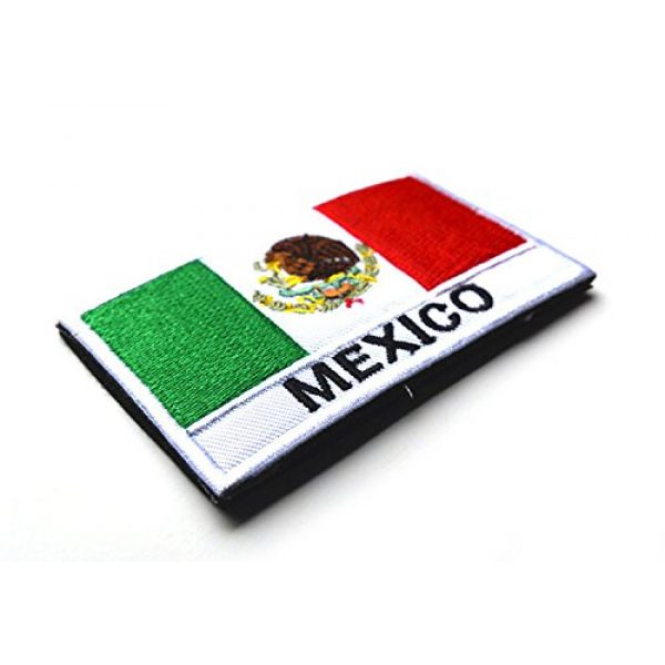 Zhikang68 Airsoft Morale Patch 3 Mexico International Flag Mexican Country Emblem Embroidered Military Tactical Morale Badges Sew On Shoulder Applique for Motorcycle Jackets, Clothes, Backpacks (Style 1)