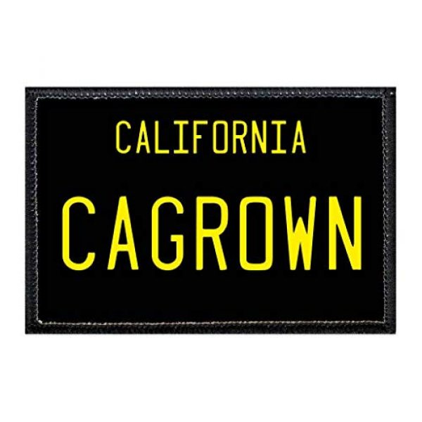 P PULLPATCH Airsoft Morale Patch 1 CA Grown - California License Plate Morale Patch | Hook and Loop Attach for Hats, Jeans, Vest, Coat | 2x3 in | by Pull Patch
