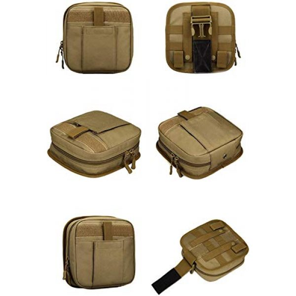ACOMOO Tactical Pouch 4 ACOMOO Multifunctional Drop Leg Waist Bag - Tactical Thigh Brown Size No Size