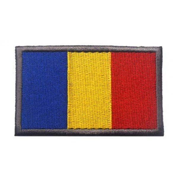 Tactical Embroidery Patch Airsoft Morale Patch 1 Romania Flag Embroidery Patch Military Tactical Morale Patch Badges Emblem Applique Hook Patches for Clothes Backpack Accessories