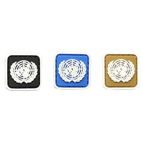 Tactical PVC Patch Airsoft Morale Patch 1 3pcs Mini Size United Nations Flag Glowing in Dark PVC Military Tactical Morale Patch Badges Emblem Applique Hook Patches for Clothes Backpack Accessories