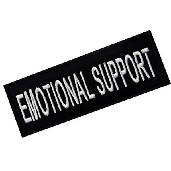 EmbTao Airsoft Morale Patch 3 Emotional Support Service Animal Vests/Harnesses Emblem Embroidered Fastener Hook & Loop Patch, 4 X 1.5 Inch