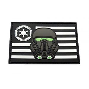"""Miltacusa Airsoft Morale Patch 1 Stormtrooper USA Flag Rogue Patch [Glow Dark -3D-PVC Rubber -Velcro Brand"""" Fastener]"""