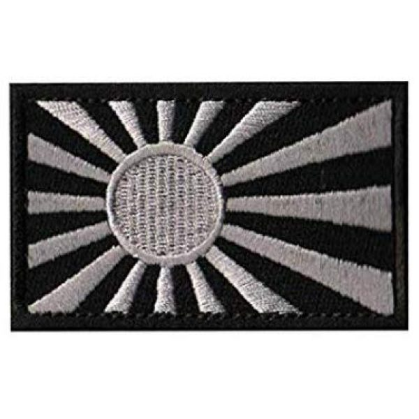 Embroidery Patch Airsoft Morale Patch 1 Rising Sun Flag Flag of Japan Japanese Flag Military Hook Loop Tactics Morale Embroidered Patch (color2)