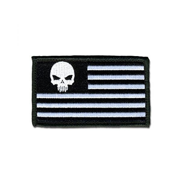 BASTION Airsoft Morale Patch 1 BASTION Morale Patches (Skull in Star Field, BNW) | 3D Embroidered Patches with Hook & Loop Fastener Backing | Well-Made Clean Stitching | Military Patches Ideal for Tactical Bag, Hats & Vest