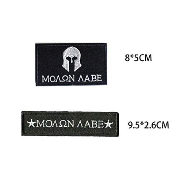 Acbell Airsoft Morale Patch 2 Molon Labe Milltary Tactical Morale Patches Fabric Embroidered Emblem Badges with Fastener Hook & Loop 2Pcs