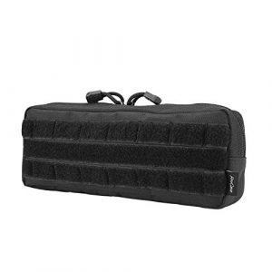ProCase Tactical Pouch 1 ProCase Tactical Admin Pouch, Versatile Molle Admin Pouch EDC Carry Bag Multi-Purpose Tool Holder for Magazine, Map and Other Small Tools -Black