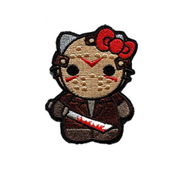 Embroidery Patch Airsoft Morale Patch 1 Hello Kitty As Warrior Military Hook Loop Tactics Morale Embroidered Patch
