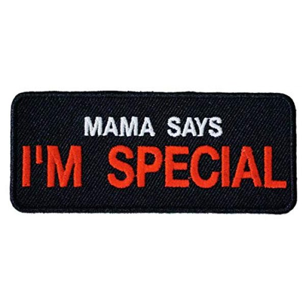 Graphic Dust Airsoft Morale Patch 2 Graphic Dust Mama Says I'm Special Embroidered Iron On Patch Funny Patch