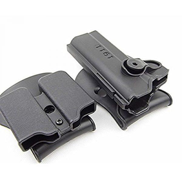 AUKMONT Tactical Pouch 5 AUKMONT Tactical Retention Roto Paddle Holster & Double Magazine Pouch for PT1911