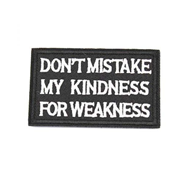 DATOUWEN ACCESSARY Airsoft Morale Patch 1 ZHDTW Tactical Morale Embroidered Patches with Hook and Loop Don't Mistake My Kindness for Weakness (DT-021)