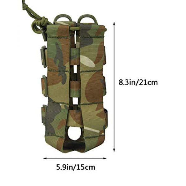 Aoutacc Tactical Pouch 3 2 Pack Molle Tactical Water Bottle Pouch Adjustable Straps Outdoor Sports Kettle Carrier Holder for Molle Systems