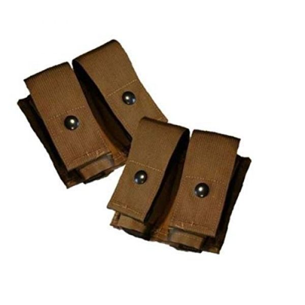 Airsoft Tactical Pouch 1 AirSoft Lot of 2 USGI Double 40MM HE High Explosive/Grenade MOLLE Pouch New Nib Coyote