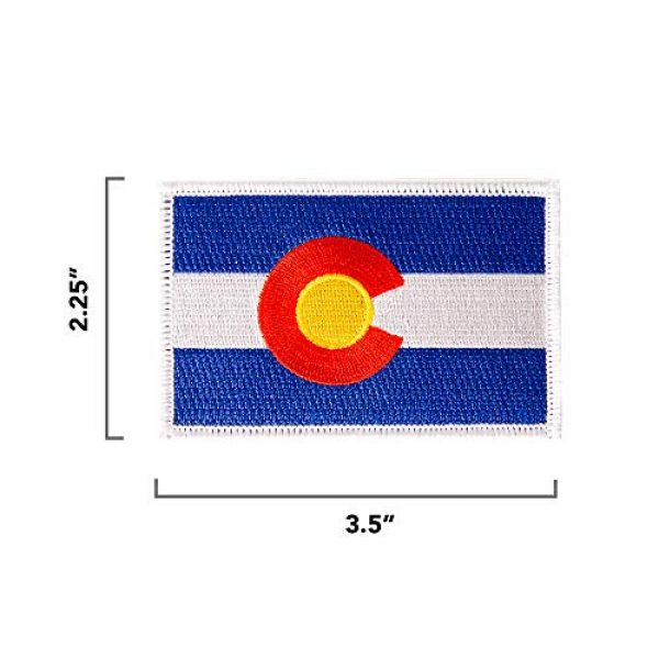 Desert Cactus Airsoft Morale Patch 2 Colorado Flag Patch 3.5 inch x 2.25 inch Iron On Sew Embroidered Tactical Backpack Hat Bags (Single Patch)