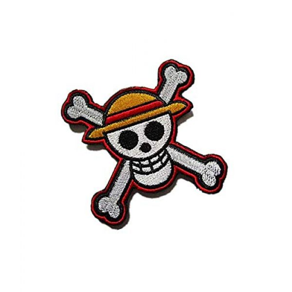 Embroidery Patch Airsoft Morale Patch 2 One Piece Japanese Anime' Luffy Skull Military Hook Loop Tactics Morale Embroidered Patch