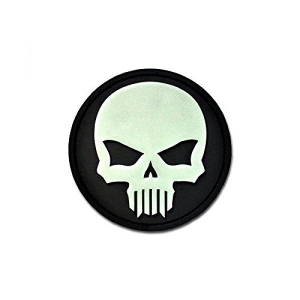 BASTION Airsoft Morale Patch 1 BASTION Morale Patches (Bastion Glow Skull)   3D PVC Patch with Hook & Loop Fastener Backing   Well-Made   Military Combat Badge Patches Ideal for Tactical Bag, Hats & Vest
