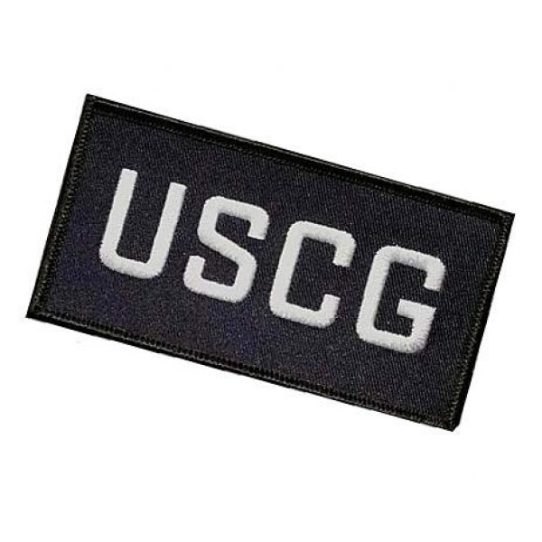 Embroidery Patch Airsoft Morale Patch 3 USCG Military Hook Loop Tactics Morale Embroidered Patch