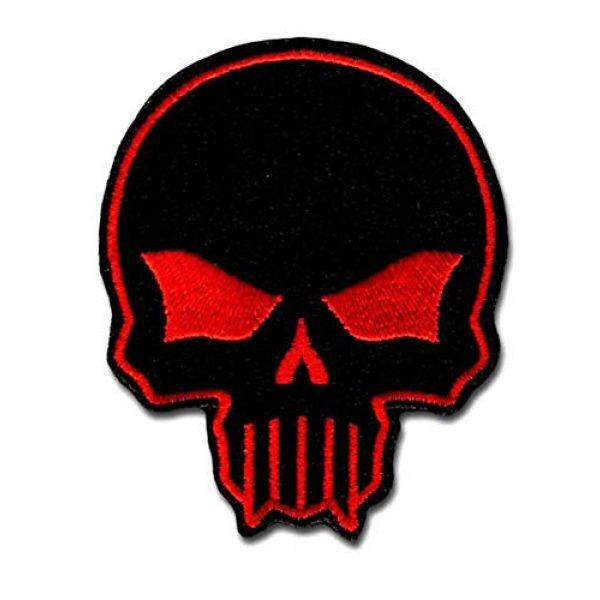BASTION Airsoft Morale Patch 1 BASTION Morale Patches (Bastion Skull, Red) | 3D Embroidered Patches with Hook & Loop Fastener Backing | Well-Made Clean Stitching | Christian Patches for Tactical Bag, Hats & Vest