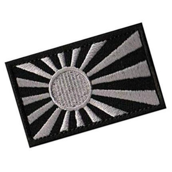 Embroidery Patch Airsoft Morale Patch 2 Rising Sun Flag Flag of Japan Japanese Flag Military Hook Loop Tactics Morale Embroidered Patch (color2)
