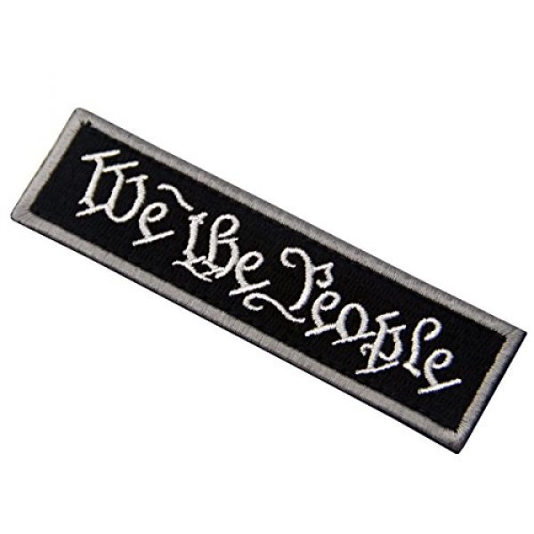 EmbTao Airsoft Morale Patch 4 We The People Tactical Embroidered Morale Applique Fastener Hook&Loop Patch - Black