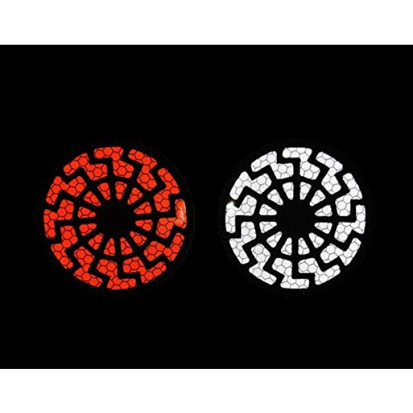 APBVIHL Airsoft Morale Patch 3 Reflective Infrared IR Black Sun Patch Stickers Chemical Resident Evil Military Morale Decorative Patches Emblem Badges Tactical Appliques with Hook and Loop Fastener Backing